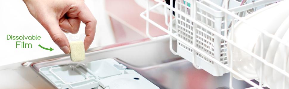 dish, dishwasher, clean, fragrance free, dye free, bleach free, powerful, plant based, wash, scrub