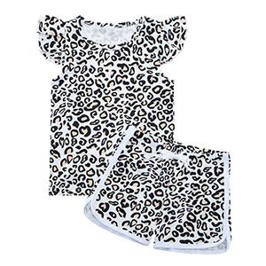 girl leopard short sets