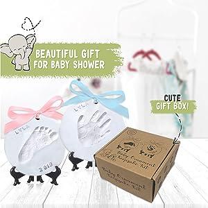 baby footprint ornament kit keepsake box handprint gift picture kits memory newborn gifts prints boy