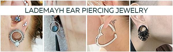 LADEMAYH EAR PIERCING JEWELRY