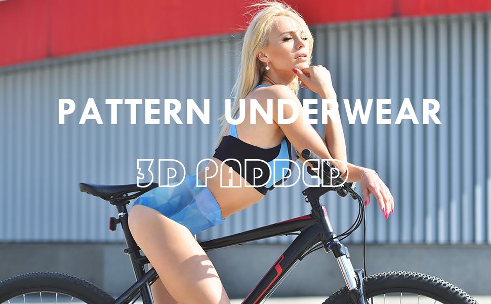 Women's Cycling Underwear 3D Gel Padded Printed