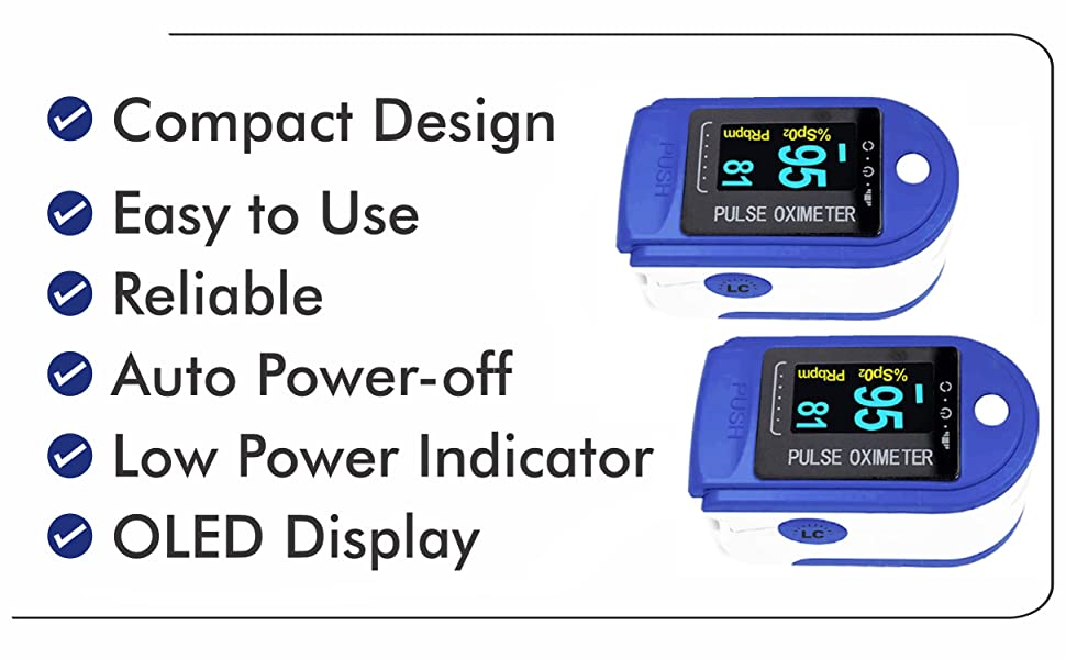 Lumino Cielo Oximeter that is reliable quick easy to use and low cost
