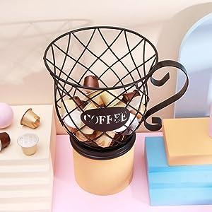 Coffee Pod Holder Mug Shape MultiUse K Cup Holder Kcup Storage Organizer