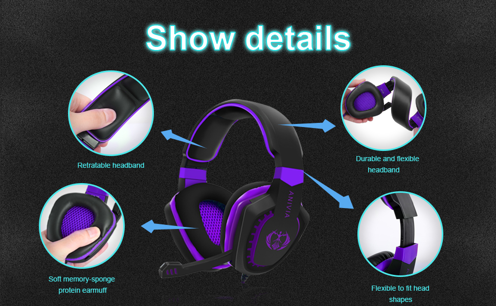 Gaming headset in details