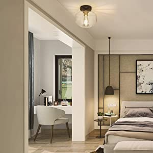 Classic Glass Ceiling Light Fixture for bedroom