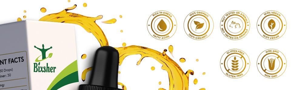 Premium Hemp Oil Drops Pure Organic Natural Sleep Aid Pain Relief Anxiety Stress Vegan Friendly 100%