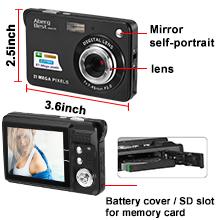 "Flashandfocus.com 2d67f221-95d1-4b99-8cb7-3ca178978a8e.__CR0,0,220,220_PT0_SX220_V1___ AbergBest 21 Mega Pixels 2.7"" LCD Rechargeable HD Digital Camera,Video camera Digital Students cameras,Indoor Outdoor for Adult/Seniors/Kids (Black)"