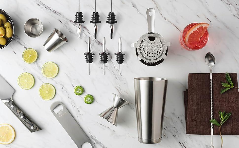 Premium Cocktail Shaker Bar Tools Set