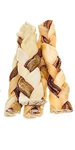 Redbarn 7 inch Twizzle Stix - Braided Rawhide