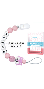 pacifier clip with name