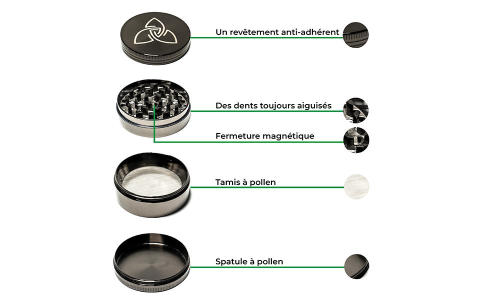 zen vaporizers grinder crusher magnet robust aluminium