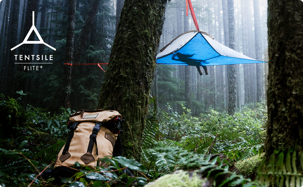 Tentsile Flite + flite+ plus flight hanging tree hammock tent outdoors camping hiking flying pack