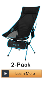 Outdoor 2 Pack Camping Chair Portable Lightweight Folding Camp Chairs