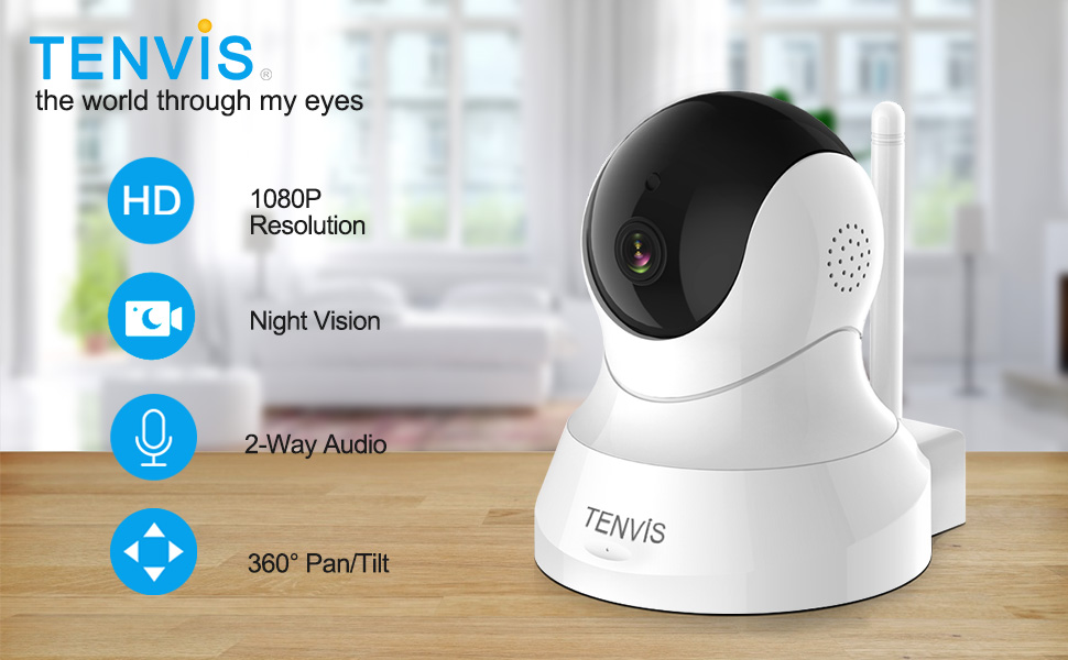 tenvis home security camera for pet dog baby