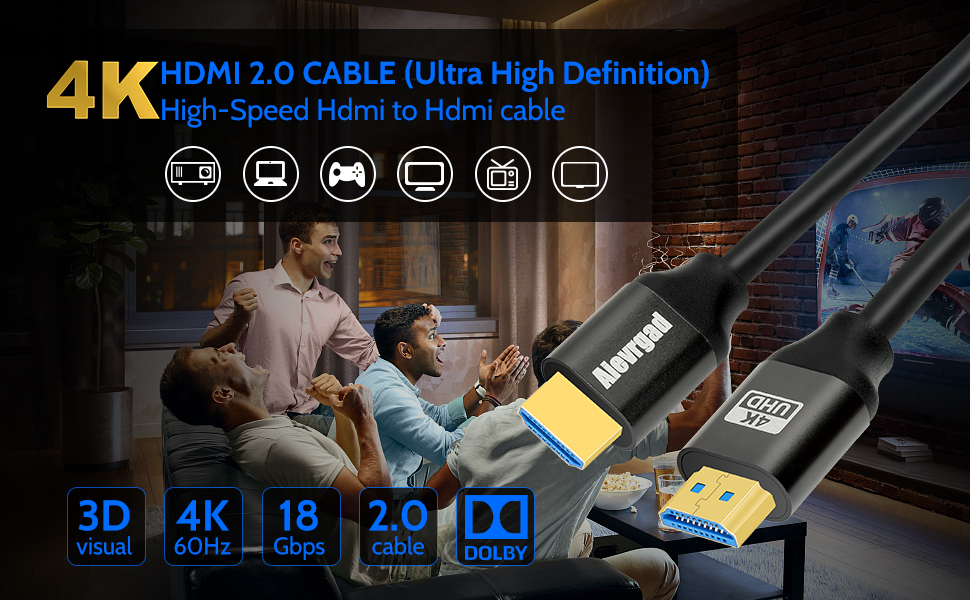4k HDMI cable 3.2ft