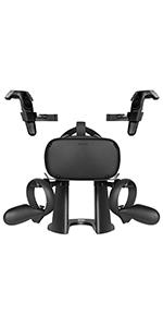 VR Stand Headset Display Holder and Controller Holder Mount Station