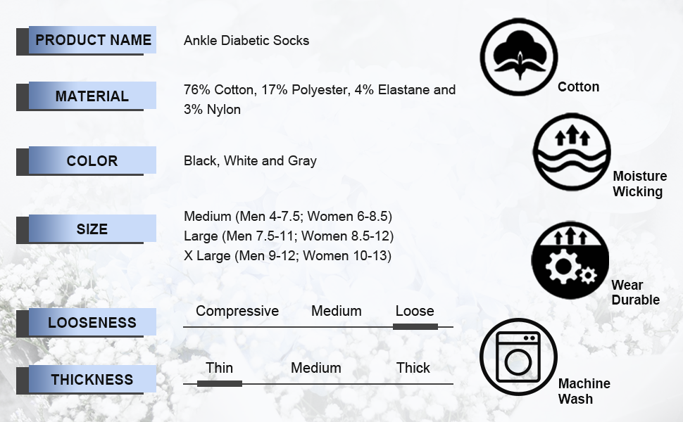 ankle diabetic socks