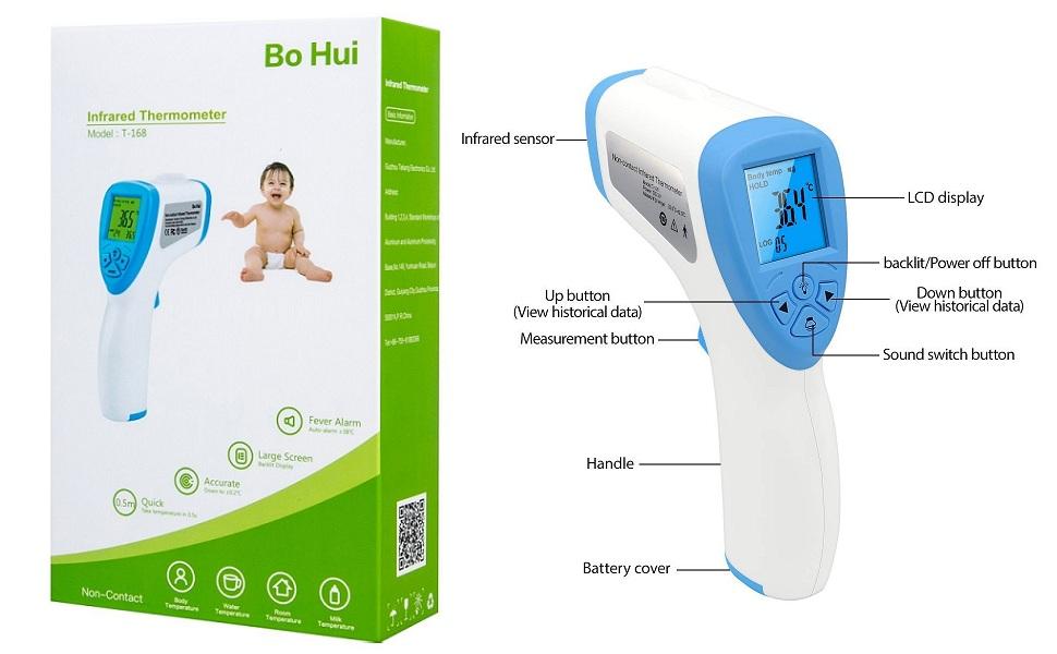 Infrared Thermometer temperature gun bo hui cheap thermometer non contact thermometer