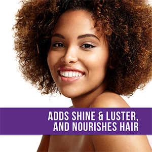 adds shine and luster and nourishes hair