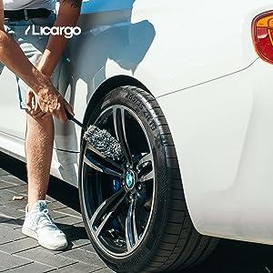 Microvezel-velgborstel van LICARGO in gebruik op BMW