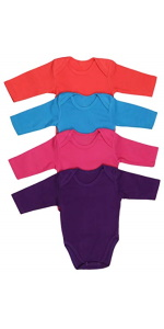 baby's long sleeve bodysuit onesies