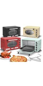Turbotronic Mini four à pizza avec chaleur tournante et minuteur rétro