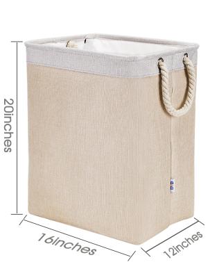 ropa de lino DYD Cesto plegable para la ropa sucia con asas con embudo de gran capacidad para guardar la ropa sucia y guardar juguetes