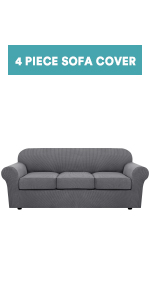4 pieces sofa cover for 3 seat cushion cover
