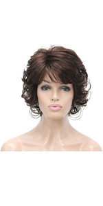 Short Finger Waves Hairstyles Women African American Black Flapper Wig