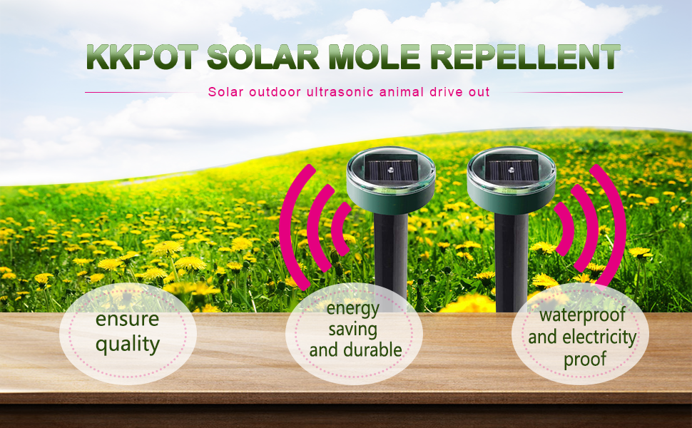 solar mole repellent