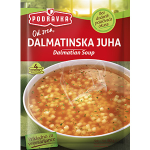 Podravka dalmatian soup vegetarian vegan vegetables flavor tomato delicious mediteranean herbs pasta