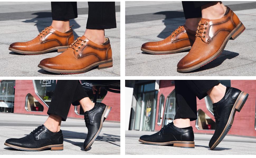 Men's Leather Dress Shoes Oxford Derbys
