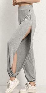 Side Slit Harem Yoga Pants