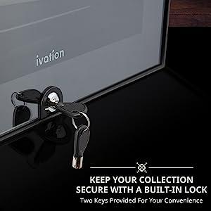 wine cooler door lock