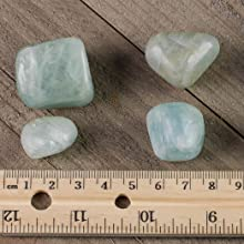 *ONE* Turquoise Chrysocolla Tumbled Stone 25mm QTY1 Healing Crystal Speaking