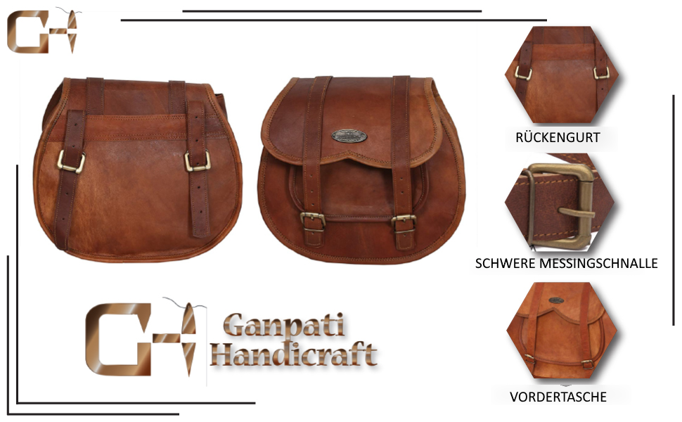 2 X Motorrad Seitentasche Braune Ledertasche Satteltaschen Satteltaschen 2 Taschen Koffer Rucksäcke Taschen