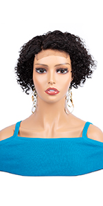 4*4 short curly wig