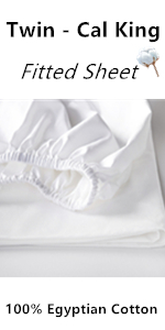 100% Egyptian Cotton White Fitted Sheet Soft Sateen Weave Bed Sheet Deep Pocket Elastic All Round