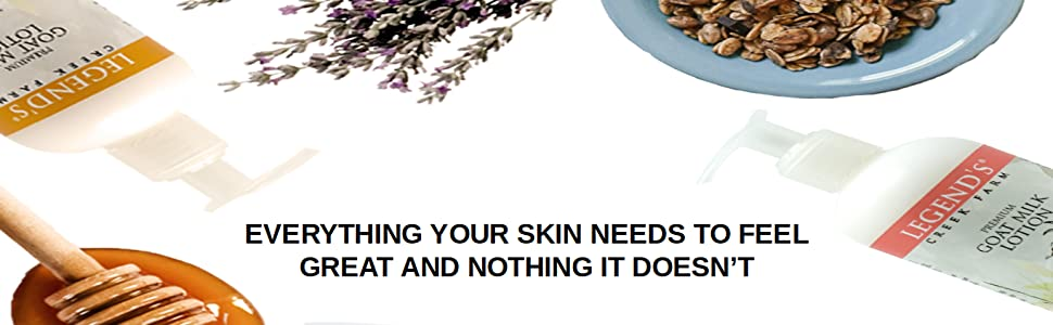 everything your skin needs to feel great and nothing it doesn't