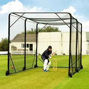 Amazon Com Fortress Mobile Cricket Cage 24ft X 10ft X 10ft Portable Cricket Nets Sports Outdoors