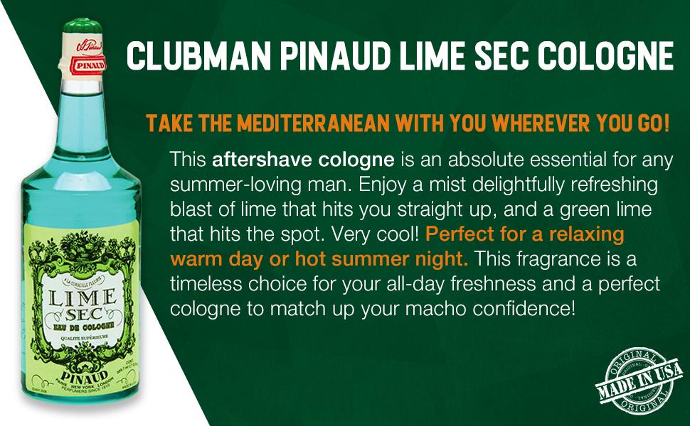 Clubman Pinaud Lime Sec Cologne, 12.5 fl oz