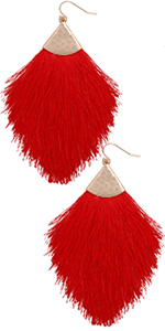 Fringe Tassel Statement Dangle Earrings - Lightweight Boho Long Feather Drops for Women