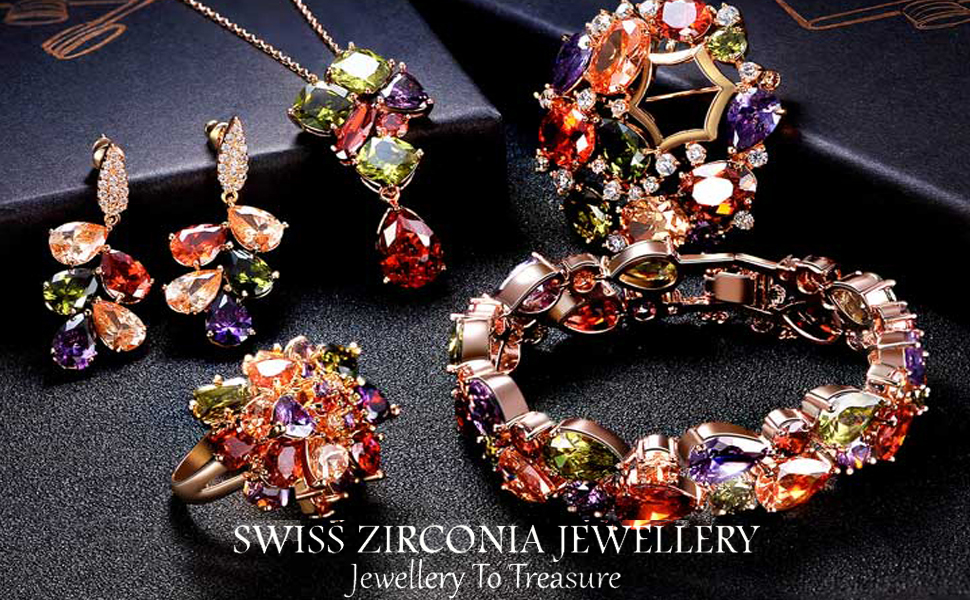 Swiss Zircon Multicolor Jewellery's collections banners