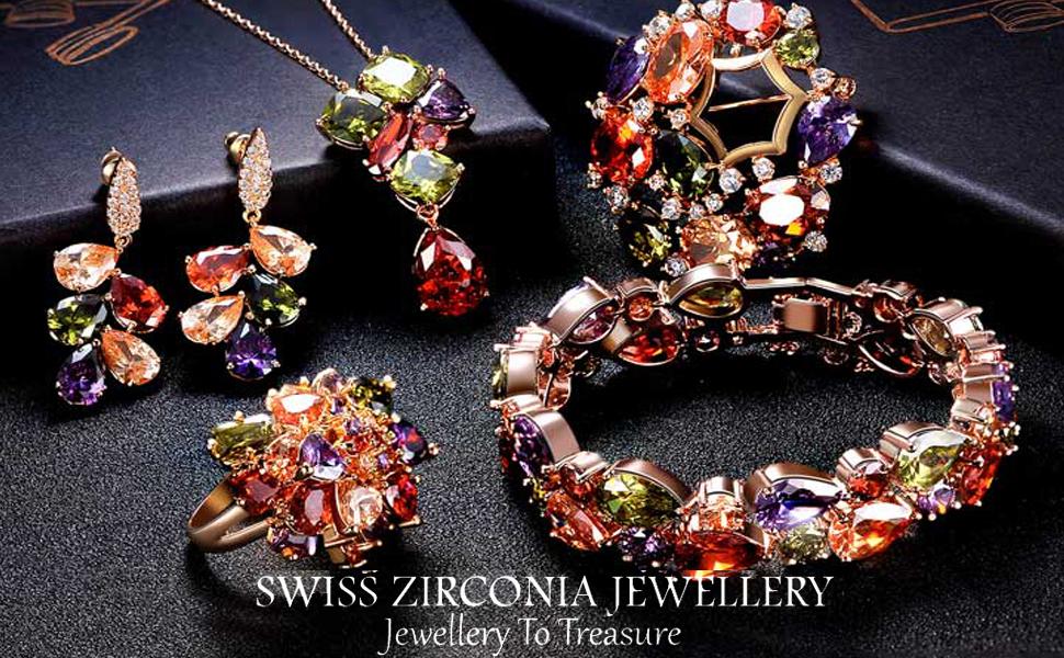 Swiss Zircon Multicolor Jewellery's collections