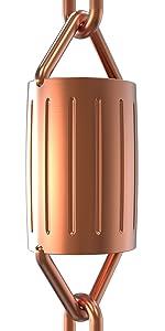 scallop rain chain copper