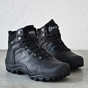 leather hiking boot