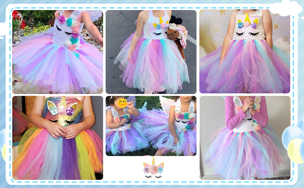 unicorn tutu dress up party costume for girls