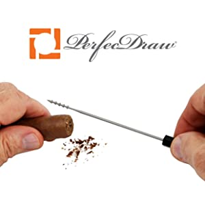 Perfecdraw cigar draw tool removing tobacco creating better perfect draw