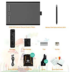 GAOMON  GAOMON 10 x 6,25 Pulgadas Tableta Gráfica Drawing Tablet 8192 Presión de Nivel con Pasiva Pluma-M10K 2018 Versión (M10K2018) 2dbfb19f 8e0d 483f a5f1 307f250a06cc