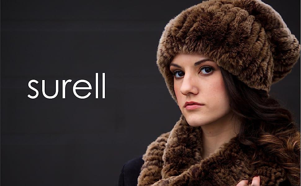 surell, fur, real fur, faux fur, neck loop, beanie, winter accessories, fashionable, versatile, set